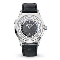 Patek Philippe World Time White gold 38.5mm Grey Arabic numerals