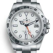 Rolex Explorer II Stahl 42mm Weiß Keine Ziffern