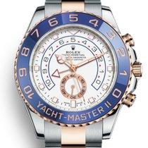Rolex Yacht-Master II Acero y oro 44mm Blanco Sin cifras