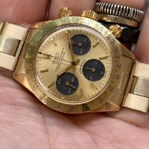 Rolex Daytona Yellow gold 37mm Champagne No numerals