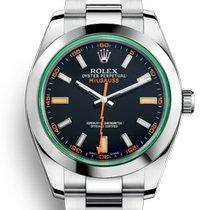 Rolex Milgauss Steel 40mm Green No numerals
