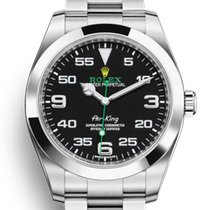 Rolex Air King Steel 40mm Black Arabic numerals