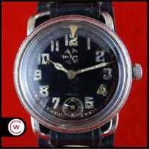 Hentschel Hamburg Steel 41mm Manual winding HELVETIA Military Vintage Luftwaffe Pilot WWII pre-owned