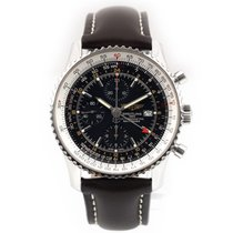 Breitling Navitimer World Stål 46mm Sort Ingen tal