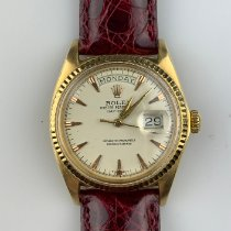 Rolex Day-Date 36 Oro amarillo 36mm Blanco Sin cifras