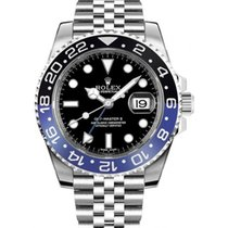 Rolex Steel Automatic Black No numerals 40mm new GMT-Master II