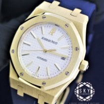 Audemars Piguet Royal Oak Selfwinding Or jaune 39mm Blanc Sans chiffres