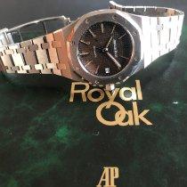 Audemars Piguet Royal Oak Stahl 37mm Braun Keine Ziffern