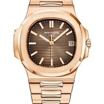Patek Philippe Rose gold Automatic Brown No numerals 40mm pre-owned Nautilus