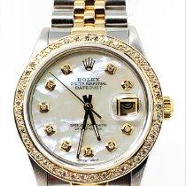 Rolex Datejust 16013 Meget god Guld/Stål 36mm Automatisk