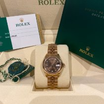 Rolex Lady-Datejust Rose gold 28mm Brown No numerals Australia, Sydney