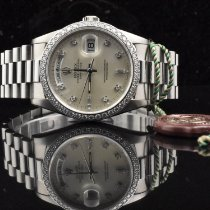 Rolex Day-Date Fehérarany 36mm Ezüst