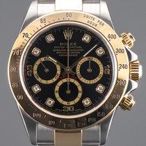 Rolex Daytona Gold/Stahl 40mm Schwarz Keine Ziffern Deutschland, Essen