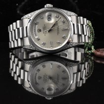 Rolex Day-Date Platina 36mm Argint