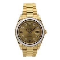 Rolex Day-Date II Oro amarillo 41mm Champán Sin cifras