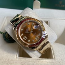 Rolex Pearlmaster Yellow gold 39mm Orange No numerals