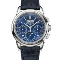 Patek Philippe Perpetual Calendar Chronograph White gold 41mm Blue No numerals United States of America, Iowa, Des Moines