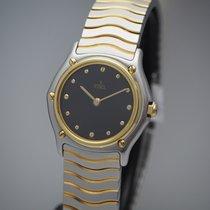 Ebel Classic Золото/Cталь 27mm Черный Без цифр