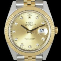 Rolex Datejust Gold/Steel 41mm Champagne No numerals