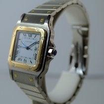 Cartier Santos Galbée Gold/Stahl 29mm Silber Römisch