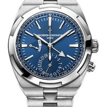 Vacheron Constantin Overseas Dual Time Steel 41mm Blue No numerals United States of America, New York, NEW YORK