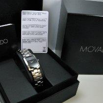 Movado Eliro Acier 22mm Noir Sans chiffres
