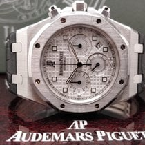 Audemars Piguet Royal Oak Chronograph Белое золото 39mm Cеребро Без цифр