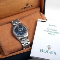Rolex Datejust 16220-blue-stick-Oyster-BNP 2006 occasion