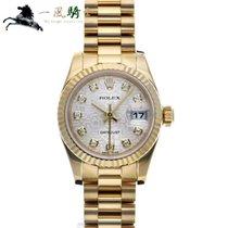 Rolex Lady-Datejust usado 26mm Prata Ouro amarelo