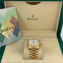 Rolex Day-Date 36 Oro amarillo 36mm Blanco Sin cifras