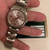 Rolex Air King Staal 34mm Zilver Arabisch