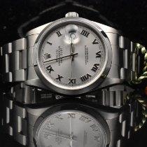 Rolex Datejust Zeljezo 36mm Srebro Rimski brojevi