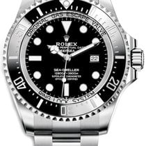 Rolex Steel Automatic Black No numerals 44mm new Sea-Dweller Deepsea