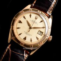 Rolex Yellow gold Automatic No numerals 36mm pre-owned Datejust Turn-O-Graph