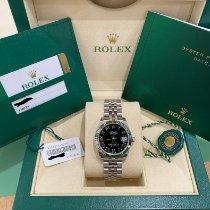 Rolex Lady-Datejust Stahl 31mm Schwarz Römisch