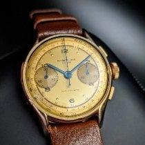 Chronographe Suisse Cie Or jaune 35mm Remontage manuel occasion