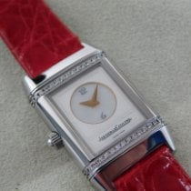 Jaeger-LeCoultre Steel Manual winding Silver Arabic numerals 21mm pre-owned Reverso Duetto
