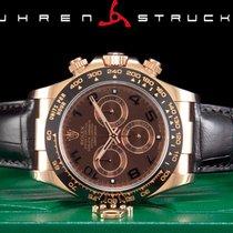 Rolex Daytona Pозовое золото 40mm Чёрный Aрабские