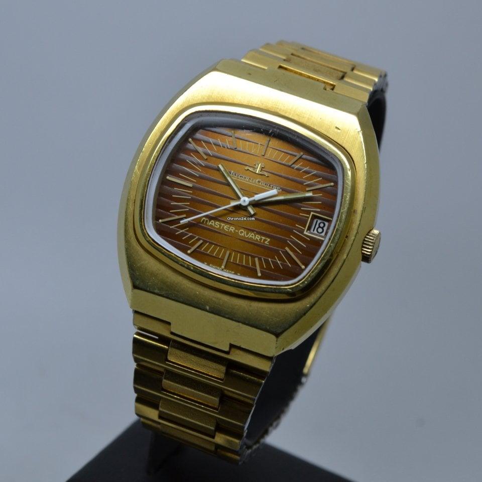 Jaeger-LeCoultre Master Quartz Gold Plated Bronze Brown Dial RARE