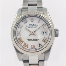 Rolex Lady-Datejust usados 26mm Blanco Fecha Acero