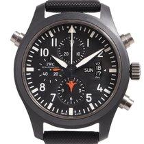 IWC Pilot Chronograph Top Gun occasion Noir Cuir