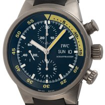 IWC Aquatimer Chronograph pre-owned 42mm Black Chronograph Date Weekday Rubber
