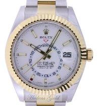 Rolex Sky-Dweller Gold/Steel 42mm White No numerals