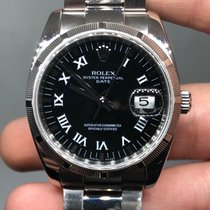 Rolex Oyster Perpetual Date Steel 34mm Black United States of America, New York, New York