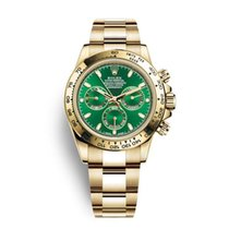 Rolex Daytona Yellow gold 40mm Green No numerals UAE, Dubai