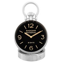 Panerai Table Clock Steel 65mm Black