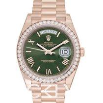 Rolex Day-Date 40 Oro rosa 40mm Verde