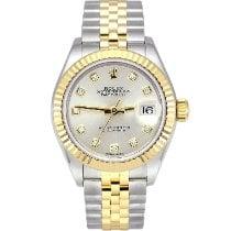 Rolex Lady-Datejust Gold/Stahl 28mm Silber Keine Ziffern