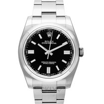 Rolex Oyster Perpetual 36 Staal 36.00mm Zwart