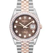 Rolex Datejust Or rose 36mm Brun